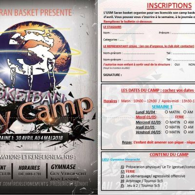 Basketball Day Camp acte III: du 30 avril au 4 mai