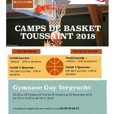 Camp basket de la Toussaint] - inscriptions ouvertes