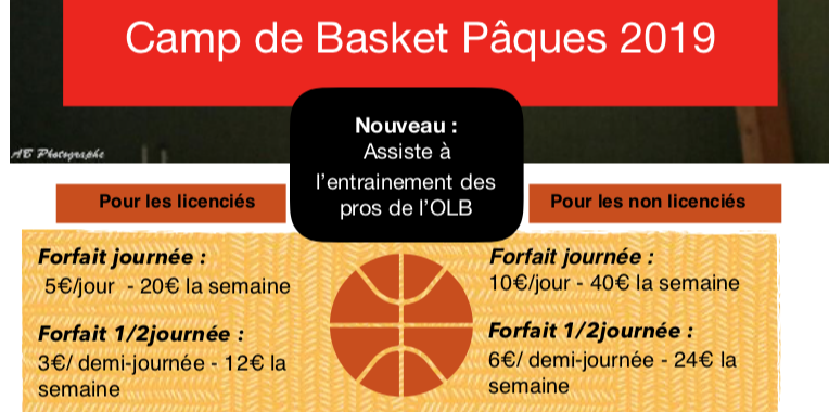 Camps de Basket Avril