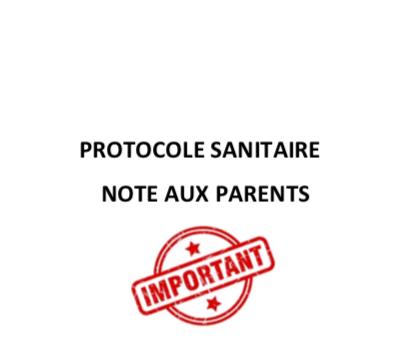 PROTOCOLE SANITAIRE CLUB POUR LA REPRISE