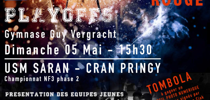 Play off match n°2 + planning week-end