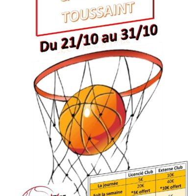 Camp Basket - Toussaint 2019